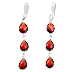 9.72cts natural red garnet 925 sterling silver dangle earrings jewelry r19988
