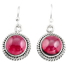 8.44cts natural red garnet 925 sterling silver dangle earrings jewelry r21627