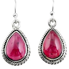 8.80cts natural red garnet 925 sterling silver dangle earrings jewelry r21641