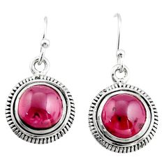 8.77cts natural red garnet 925 sterling silver dangle earrings jewelry r21650