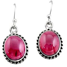 7.67cts natural red garnet 925 sterling silver dangle earrings jewelry r21654