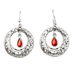 2.24cts natural red garnet 925 sterling silver dangle earrings jewelry r33037