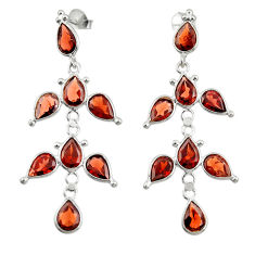 16.50cts natural red garnet 925 sterling silver dangle earrings jewelry r33108