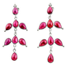 18.79cts natural red garnet 925 sterling silver dangle earrings jewelry r33110