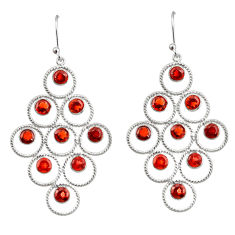 10.60cts natural red garnet 925 sterling silver dangle earrings jewelry r33223