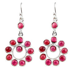 11.20cts natural red garnet 925 sterling silver dangle earrings jewelry r35532