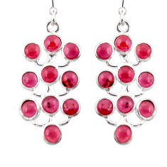 9.22cts natural red garnet 925 sterling silver dangle earrings jewelry r35801