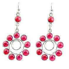 16.82cts natural red garnet 925 sterling silver dangle earrings jewelry r37487