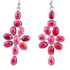 15.25cts natural red garnet 925 sterling silver dangle earrings jewelry r37506