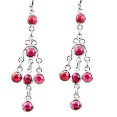 9.88cts natural red garnet 925 sterling silver dangle earrings jewelry r37535