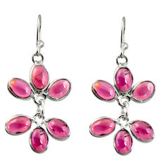 10.09cts natural red garnet 925 sterling silver dangle earrings jewelry r37565