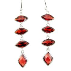 9.02cts natural red garnet 925 sterling silver dangle earrings jewelry r42287