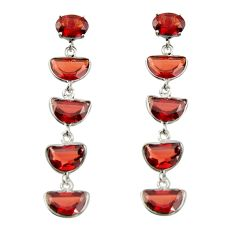11.40cts natural red garnet 925 sterling silver dangle earrings jewelry r42288