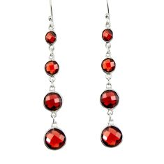 8.54cts natural red garnet 925 sterling silver dangle earrings jewelry r42290