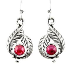 2.10cts natural red garnet 925 sterling silver dangle earrings jewelry r42901