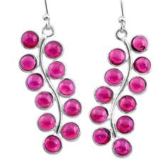 9.83cts natural red garnet 925 sterling silver dangle earrings jewelry t12402