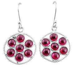 7.52cts natural red garnet 925 sterling silver dangle earrings jewelry t12463