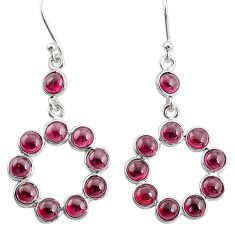 10.15cts natural red garnet 925 sterling silver dangle earrings jewelry t12485