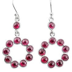 10.08cts natural red garnet 925 sterling silver dangle earrings jewelry t12501