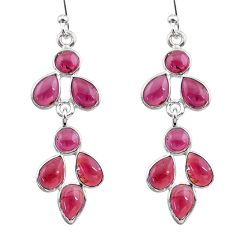 9.22cts natural red garnet 925 sterling silver dangle earrings jewelry t12509