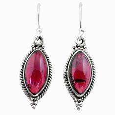 10.74cts natural red garnet 925 sterling silver dangle earrings jewelry t29935