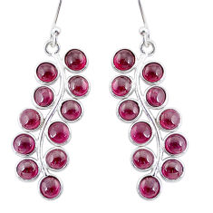 10.62cts natural red garnet 925 sterling silver dangle earrings jewelry t4822