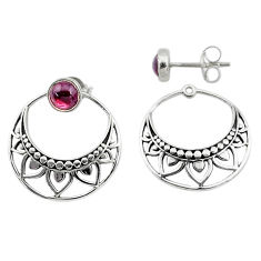 1.79cts natural red garnet 925 sterling silver dangle earrings jewelry t8242