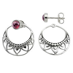 1.79cts natural red garnet 925 sterling silver dangle earrings jewelry t8250