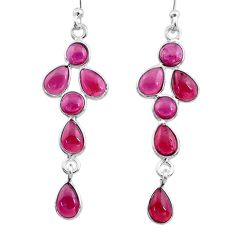 7.65cts natural red garnet 925 sterling silver earrings jewelry t12566