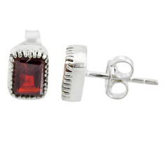 3.04cts natural red garnet 925 sterling silver earrings jewelry t7454