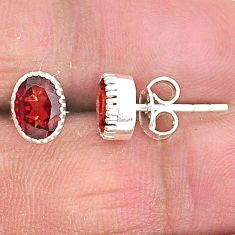 3.40cts natural red garnet 925 sterling silver stud earrings jewelry t4474