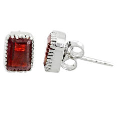 2.79cts natural red garnet 925 silver handmade stud earrings jewelry t7365