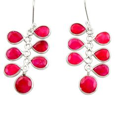 15.34cts natural red ruby 925 sterling silver chandelier earrings jewelry d39895
