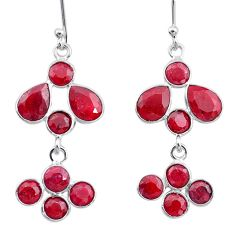 8.70cts natural red ruby 925 sterling silver chandelier earrings jewelry t12424