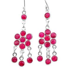 11.73cts natural red ruby 925 sterling silver chandelier earrings jewelry t38873
