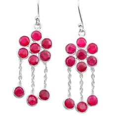 8.70cts natural red ruby 925 sterling silver chandelier earrings jewelry t38917