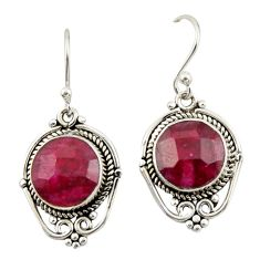8.28cts natural red ruby 925 sterling silver dangle earrings jewelry r42324