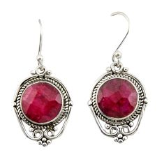 8.08cts natural red ruby 925 sterling silver dangle earrings jewelry r42325