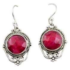8.34cts natural red ruby 925 sterling silver dangle earrings jewelry r42326