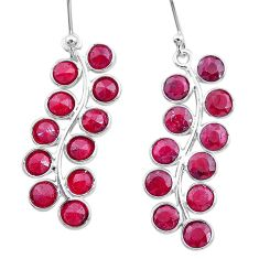9.88cts natural red ruby 925 sterling silver dangle earrings jewelry t12405