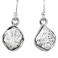9.37cts natural white herkimer diamond 925 silver dangle earrings jewelry r61514