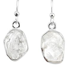 10.69cts natural white herkimer diamond 925 silver dangle earrings r69589