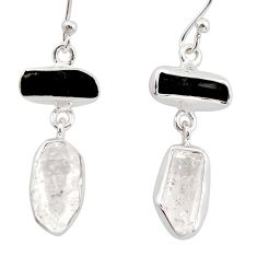 13.15cts natural white herkimer diamond 925 silver earrings jewelry r38365