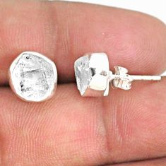 6.05cts natural white herkimer diamond 925 sterling silver earrings r69678