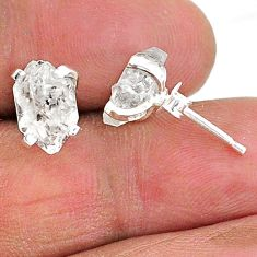5.29cts natural white herkimer diamond 925 sterling silver stud earrings t6883