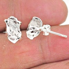 5.85cts natural white herkimer diamond 925 sterling silver stud earrings t6888
