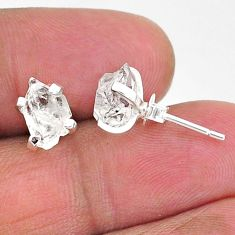 4.68cts natural white herkimer diamond 925 sterling silver stud earrings t6913