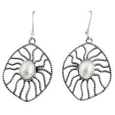 white pearl 925 sterling silver dangle earrings jewelry d40111