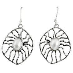 white pearl 925 sterling silver dangle earrings jewelry d40112