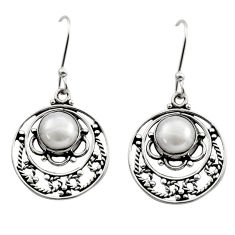 6.25cts natural white pearl 925 sterling silver dangle earrings jewelry d40840